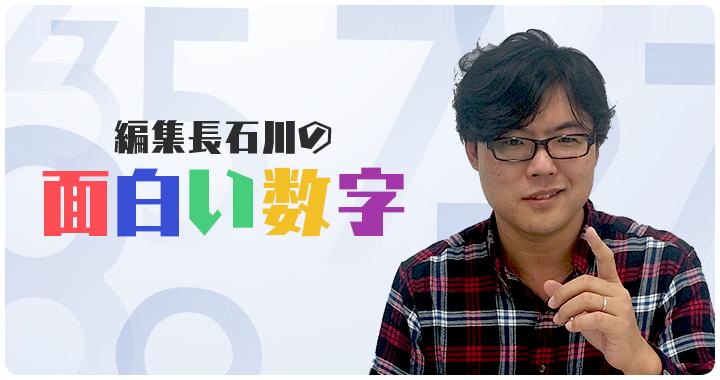 編集長石川の面白い数字