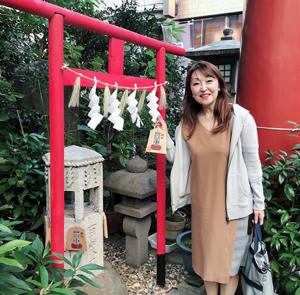 三崎稲荷神社での富士川先生