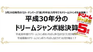 平成30年分の ドリームジャンボ総決算サムネ