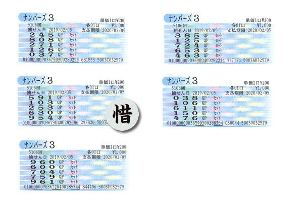 編集長・涙の自腹検証企画 2月4日~8日の大阪抽せんをクイックピックで買ってみた!!ナンバーズ3火