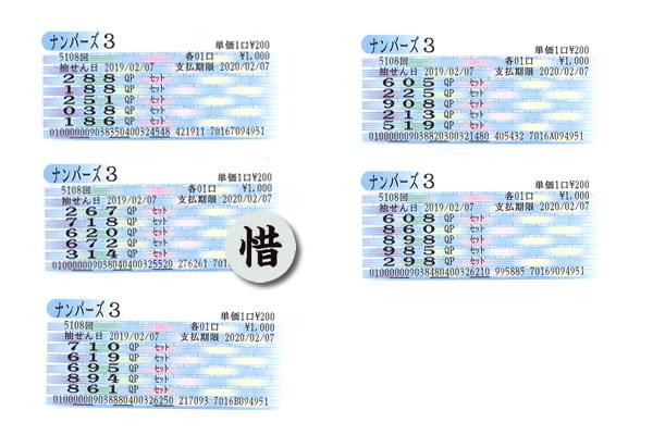 編集長・涙の自腹検証企画 2月4日~8日の大阪抽せんをクイックピックで買ってみた!!ナンバーズ3木