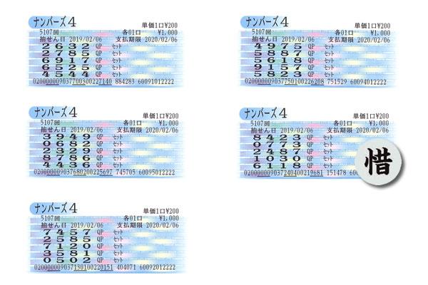 編集長・涙の自腹検証企画 2月4日~8日の大阪抽せんをクイックピックで買ってみた!!ナンバーズ4水