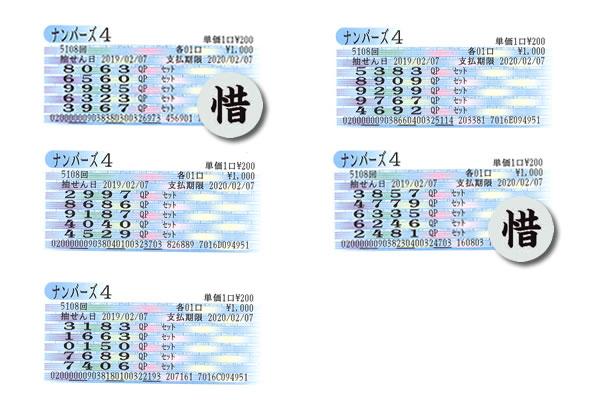 編集長・涙の自腹検証企画 2月4日~8日の大阪抽せんをクイックピックで買ってみた!!ナンバーズ4木