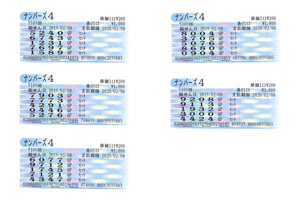 編集長・涙の自腹検証企画 2月4日~8日の大阪抽せんをクイックピックで買ってみた!!ナンバーズ4金
