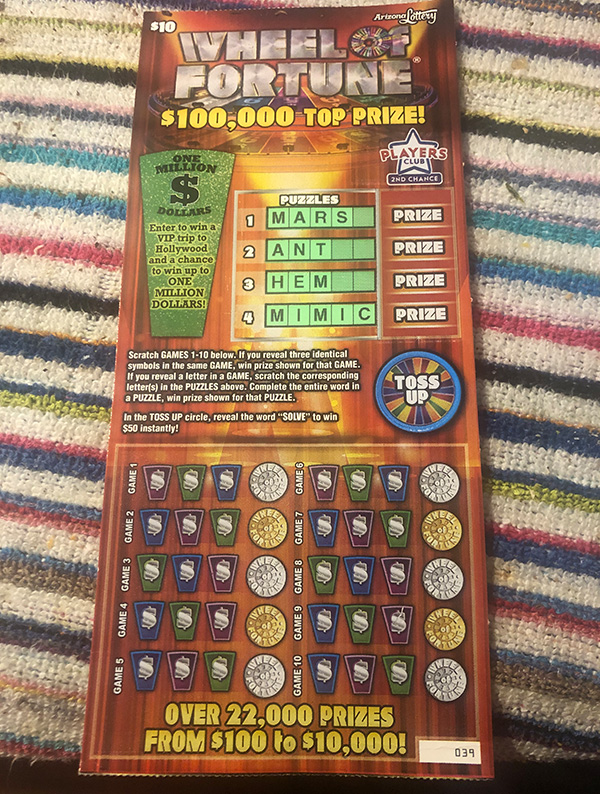 菊タロー海外宝くじコラム19年8月Wheel of Fortune1