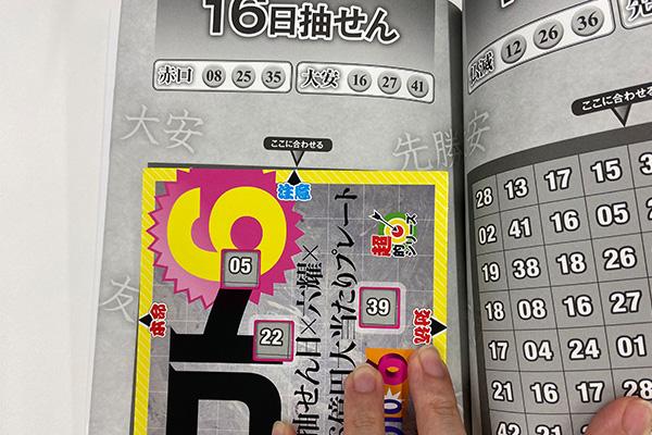 「抽せん日×六耀×6億円大当たりプレート」第1500回予想 注意