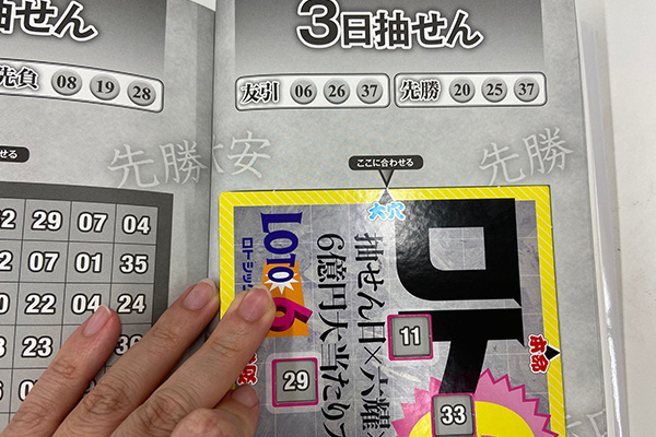 「抽せん日×六耀×6億円大当たりプレート」第1505回ロト6予想 大穴
