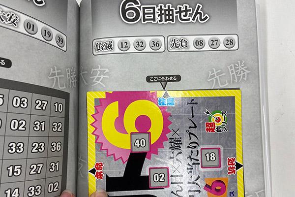 「抽せん日×六耀×6億円大当たりプレート」第1506回ロト6予想 注意