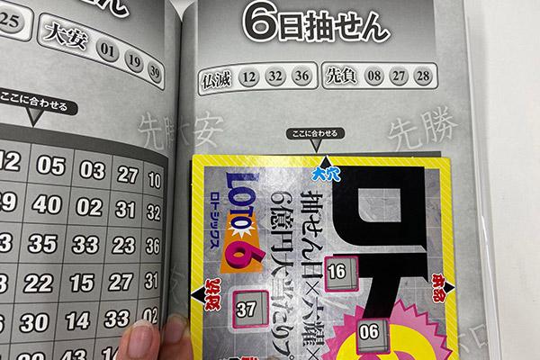 「抽せん日×六耀×6億円大当たりプレート」第1506回ロト6予想 大穴
