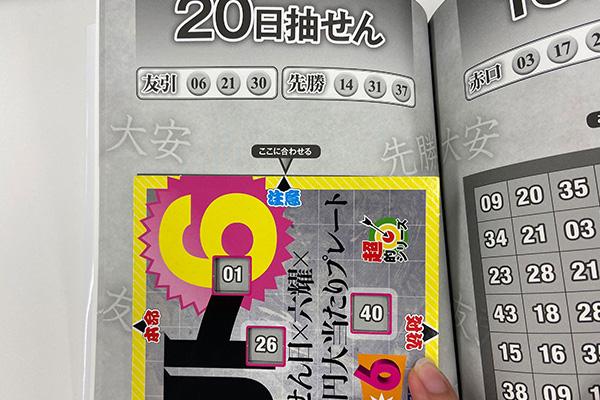「抽せん日×六耀×6億円大当たりプレート」第1510回ロト6予想 注意