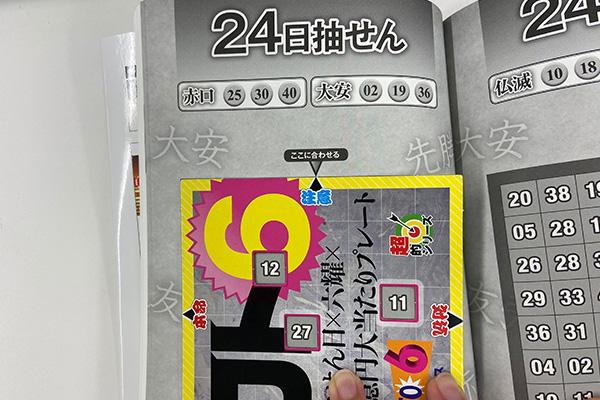 「抽せん日×六耀×6億円大当たりプレート」第1511回ロト6予想 注意