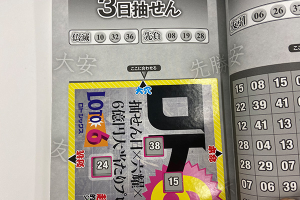 「抽せん日×六耀×6億円大当たりプレート」第1514回ロト6予想 大穴