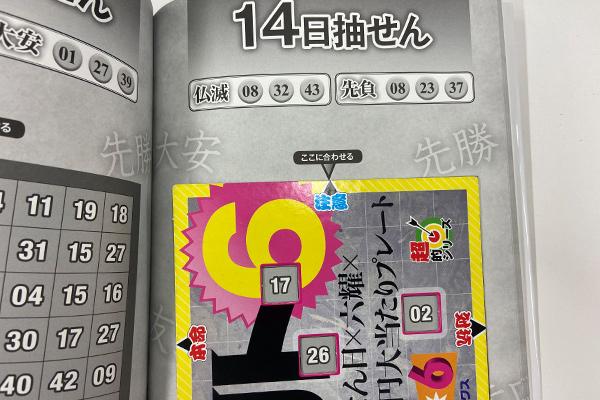 「抽せん日×六耀×6億円大当たりプレート」第1517回ロト6予想 注意