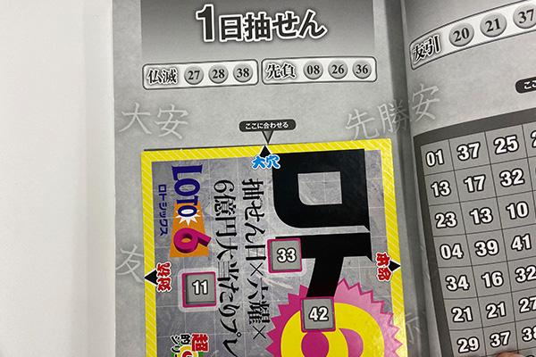 【ロト6】「抽せん日×六耀×6億円大当たりプレート」第1522回(2020年10月1日抽せん)大穴予想