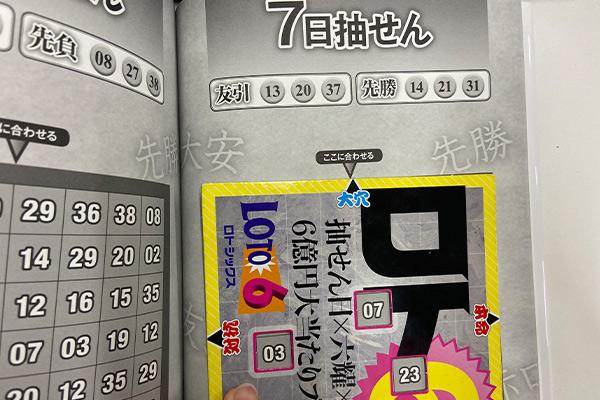 【ロト6】「抽せん日×六耀×6億円大当たりプレート」第1541回(2020年12月7日抽せん)大穴予想