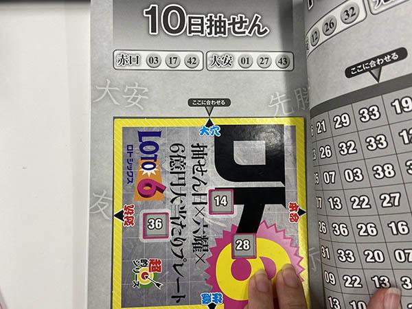 【ロト6】「抽せん日×六耀×6億円大当たりプレート」第1542回(2020年12月10日抽せん)予想