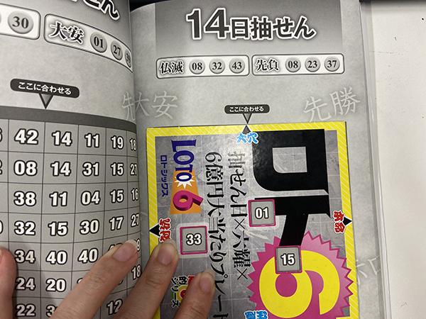 【ロト6】「抽せん日×六耀×6億円大当たりプレート」第1543回(2020年12月14日抽せん)予想