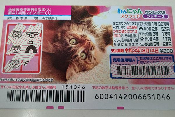 スラッチ1万円当せん