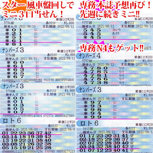 達人☆スター錦野旦の『この世に数字がある限り!』2021年8月14日更新分