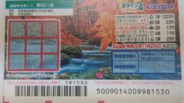 「8ラインスクラッチ4 タテ・ヨコ・ナナメ」(第901回全国)